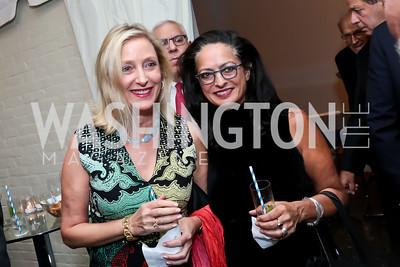 Jane Cafritz, Olvia Demetriou. Photo by Tony Powell. Cafritz Welcome Back from Summer. September 13, 2014