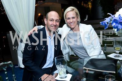 Dan Sallick, Elizabeth Miller. Photo by Tony Powell. Cafritz Welcome Back from Summer. September 13, 2014