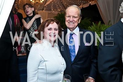 Elizabeth Stevens and George Stevens Jr. Photo by Tony Powell. Cafritz Welcome Back from Summer. September 13, 2014