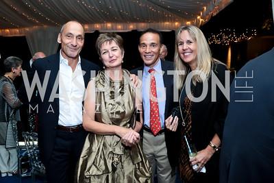 Thomas Krahenbuhl, Dorothy Kosinski, Ricardo and Isabel Ernst. Photo by Tony Powell. Cafritz Welcome Back from Summer. September 13, 2014