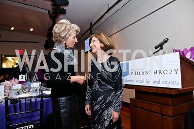 Jane Harman, Barbara Harman. Photo by Tony Powell. Catalogue for Philanthropy Award Dinner. Harman Center. November 1, 2014