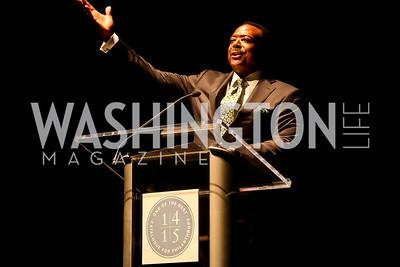 Leon Harris. Photo by Tony Powell. Catalogue for Philanthropy Award Dinner. Harman Center. November 1, 2014