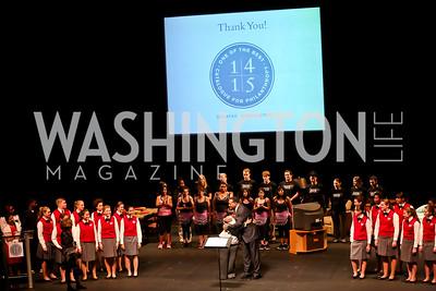 Photo by Tony Powell. Catalogue for Philanthropy Award Dinner. Harman Center. November 1, 2014