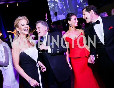 Susanna and Jack Quinn, Kristin and John Cecchi. Photo by Tony Powell. 2014 Catholic Charities Gala. Marriott Wardman Park. April 12, 2014