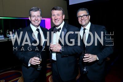 Richard Kane, Chris Raffo, Leo Gutierrez. Photo by Tony Powell. 2014 Catholic Charities Gala. Marriott Wardman Park. April 12, 2014