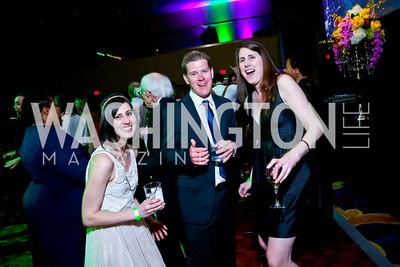 Jennifer Beyer, Scott Usher, Stephanie Garback. Photo by Tony Powell. 2014 Catholic Charities Gala. Marriott Wardman Park. April 12, 2014