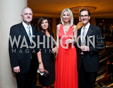 Robert and Anna Trone, Shari and Davor Kapelina. Photo by Tony Powell. 2014 Catholic Charities Gala. Marriott Wardman Park. April 12, 2014