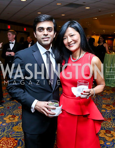 Arif and Rachel Ahmed. Photo by Tony Powell. 2014 Catholic Charities Gala. Marriott Wardman Park. April 12, 2014