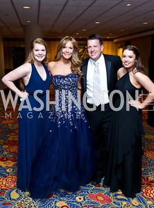 Leah, Patrice, Scott and Anna Brickman. Photo by Tony Powell. 2014 Catholic Charities Gala. Marriott Wardman Park. April 12, 2014