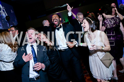 Scotty Usher, Kayla Griffith, Aaron Mosby, Jennifer Beyer. Photo by Tony Powell. 2014 Catholic Charities Gala. Marriott Wardman Park. April 12, 2014