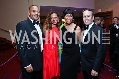 Ben and Lori Soto, Muriel Bowser, Chris Donatelli. Photo by Tony Powell. 2014 Catholic Charities Gala. Marriott Wardman Park. April 12, 2014