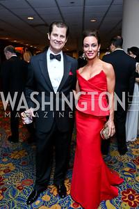 John and Kristin Cecchi. Photo by Tony Powell. 2014 Catholic Charities Gala. Marriott Wardman Park. April 12, 2014