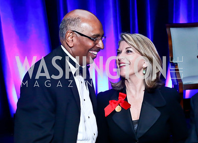 Michael Steele, Kathleen Matthews. Photo by Tony Powell. 2014 Catholic Charities Gala. Marriott Wardman Park. April 12, 2014