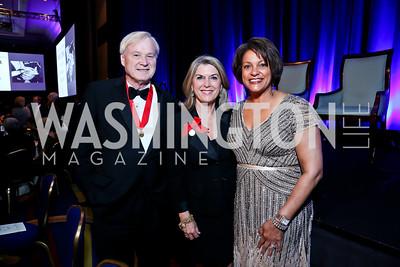 Chris and Kathleen Matthews, Debbi Jarvis. Photo by Tony Powell. 2014 Catholic Charities Gala. Marriott Wardman Park. April 12, 2014