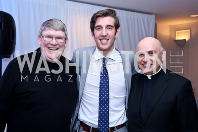 Monsignor John Enzler, Event Chair Juan Pablo Segura, Father Mario Dorsonville. Photo by Tony Powell. 2014 Musica y Suenos. Museum of Women in the Arts. May 9, 2014