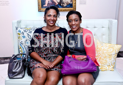 Lena Hines, Monica Sanders. Photo by Tony Powell. 2014 Musica y Suenos. Museum of Women in the Arts. May 9, 2014