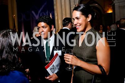 Eddy Morales, Michelle Fox. Photo by Tony Powell. 2014 Champions of Democracy Awards Gala. LOC. October 15, 2014