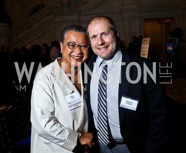 Marie Johns, Stephen McMahon. Photo by Tony Powell. 2014 Champions of Democracy Awards Gala. LOC. October 15, 2014