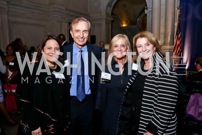 Cathy Sulzberger, Joe Perpich, Trish Vradenburg, Judy Kovler. Photo by Tony Powell. 2014 Champions of Democracy Awards Gala. LOC. October 15, 2014