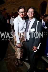 Rachel Cothran, Mark Swartz. Photo by Tony Powell. 2014 Champions of Democracy Awards Gala. LOC. October 15, 2014