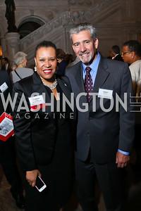 Kim Perry, Daniel Maffey. Photo by Tony Powell. 2014 Champions of Democracy Awards Gala. LOC. October 15, 2014