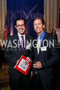 Jon Bouker, Sheldon Johnson. Photo by Tony Powell. 2014 Champions of Democracy Awards Gala. LOC. October 15, 2014