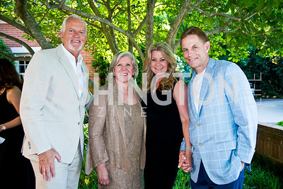 Jack Davies, Leah Gansler, Norma and Russ Ramsey. Photo by Tony Powell. 2014 CharityWorks 100 Point Wine Dinner. Ramsey Residence. May 31, 2014