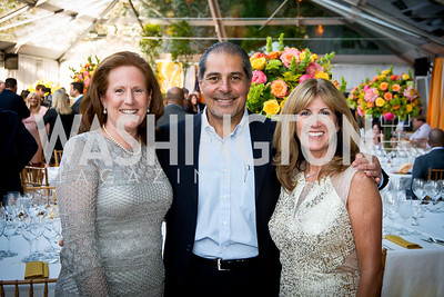 Denise and Joe Shehadeh, Liz Murias. Photo by Tony Powell. 2014 CharityWorks 100 Point Wine Dinner. Ramsey Residence. May 31, 2014