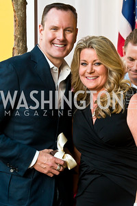 Barry Dixon, Norma Ramsey. Photo by Tony Powell. 2014 CharityWorks 100 Point Wine Dinner. Ramsey Residence. May 31, 2014