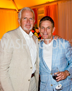 Jack Davies, Russ Ramsey. Photo by Tony Powell. 2014 CharityWorks 100 Point Wine Dinner. Ramsey Residence. May 31, 2014
