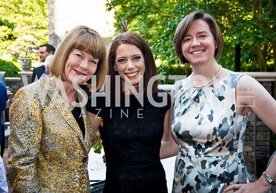 Cheryl Swanson, Amy Chao, Beth Halpern. Photo by Tony Powell. 2014 CharityWorks 100 Point Wine Dinner. Ramsey Residence. May 31, 2014