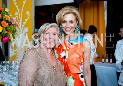 Leah Gansler, Katherine Bradley. Photo by Tony Powell. 2014 CharityWorks 100 Point Wine Dinner. Ramsey Residence. May 31, 2014