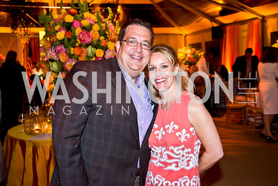 George Swygert, Angie Pagnato. Photo by Tony Powell. 2014 CharityWorks 100 Point Wine Dinner. Ramsey Residence. May 31, 2014