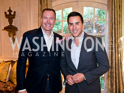 Barry Dixon, Will Thomas. Photo by Tony Powell. 2014 CharityWorks 100 Point Wine Dinner. Ramsey Residence. May 31, 2014