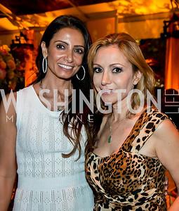 Abeer Al Otaiba, Pilar O'Leary. Photo by Tony Powell. 2014 CharityWorks 100 Point Wine Dinner. Ramsey Residence. May 31, 2014