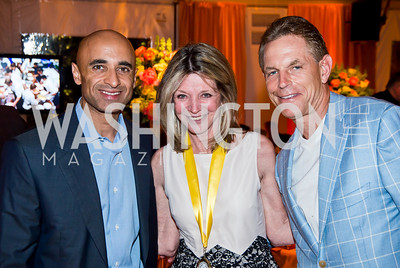 UAE Amb. Yousef Al Otaiba, Kay Kendall, Russ Ramsey. Photo by Tony Powell. 2014 CharityWorks 100 Point Wine Dinner. Ramsey Residence. May 31, 2014
