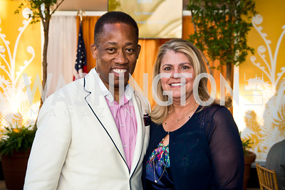 Chris Simmons, Elizabeth Hackenson. Photo by Tony Powell. 2014 CharityWorks 100 Point Wine Dinner. Ramsey Residence. May 31, 2014
