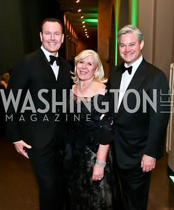 Barry Dixon, Leah Gansler, Mark Lowham. Photo by Tony Powell. 2014 CharityWorks Dream Ball An Absinthe Dream. Building Museum. September 27, 2014