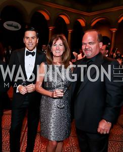Will Thomas, Liz and Fernando Murias. Photo by Tony Powell. 2014 CharityWorks Dream Ball An Absinthe Dream. Building Museum. September 27, 2014