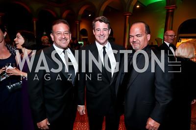Raul Fernandez, Doug Gansler, Fernando Murias. Photo by Tony Powell. 2014 CharityWorks Dream Ball An Absinthe Dream. Building Museum. September 27, 2014