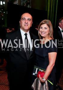 Reza and Fariba Jahanbani. Photo by Tony Powell. 2014 CharityWorks Dream Ball An Absinthe Dream. Building Museum. September 27, 2014