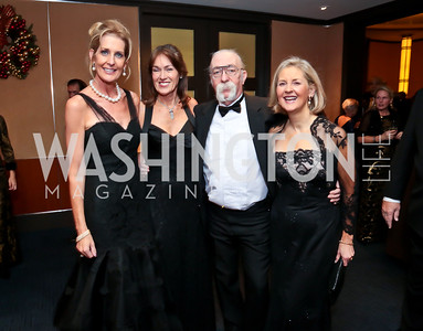 "Gala Chair Janet Phillips, Debra Kraft, Jeff ""Skunk"" Baxter, Diane Schaefer. Photo by Tony Powell. 2014 Choral Arts Gala. Kennedy Center. December 15, 2014"