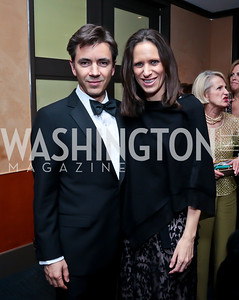 Sergio Garcia and Argentina Amb. Cecilia Nahon. Photo by Tony Powell. 2014 Choral Arts Gala. Kennedy Center. December 15, 2014