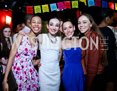 "Allegra Kirksey, Ashlianne Shigley, Halle Cann, Emily Gross. Photo by Tony Powell. CityDance ""Dreamscape"" Gala. Alero. May 10, 2014"