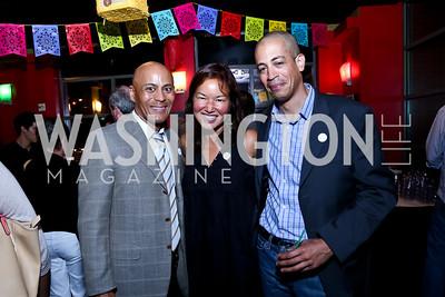 """Kevin Roots, Philippa Hughes, Aaron Johnson. Photo by Tony Powell. CityDance """"Dreamscape"""" Gala. Alero. May 10, 2014"""
