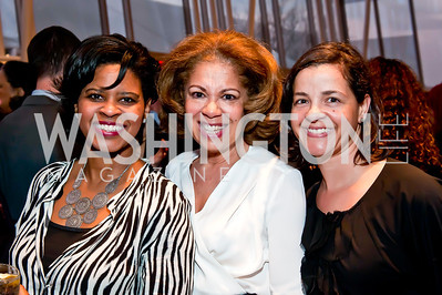 Lisa Fauntroy, Sherrir Blount, Annette Tran. Photo by Tony Powell. 2014 Duke Ellington School Benefit Concert. Strathmore Hall. March 12, 2014