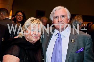 Connie Milstein, Jehan-Christophe de La Haye Saint Hilaire. Photo by Tony Powell. 2014 Duke Ellington School Benefit Concert. Strathmore Hall. March 12, 2014