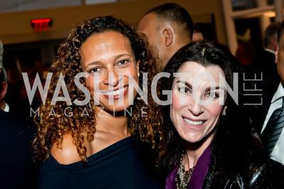 Lori Soto, Tracy Bernstein. Photo by Tony Powell. 2014 Duke Ellington School Benefit Concert. Strathmore Hall. March 12, 2014