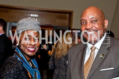 Rynthia Rost, Greogry Jackson. Photo by Tony Powell. 2014 Duke Ellington School Benefit Concert. Strathmore Hall. March 12, 2014