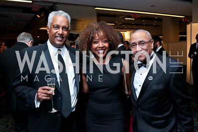 Kamal Ben Ali, Gina Adams, Duane Taylor. Photo by Tony Powell. 2014 Fight Night. Hilton Hotel. November 13, 2014